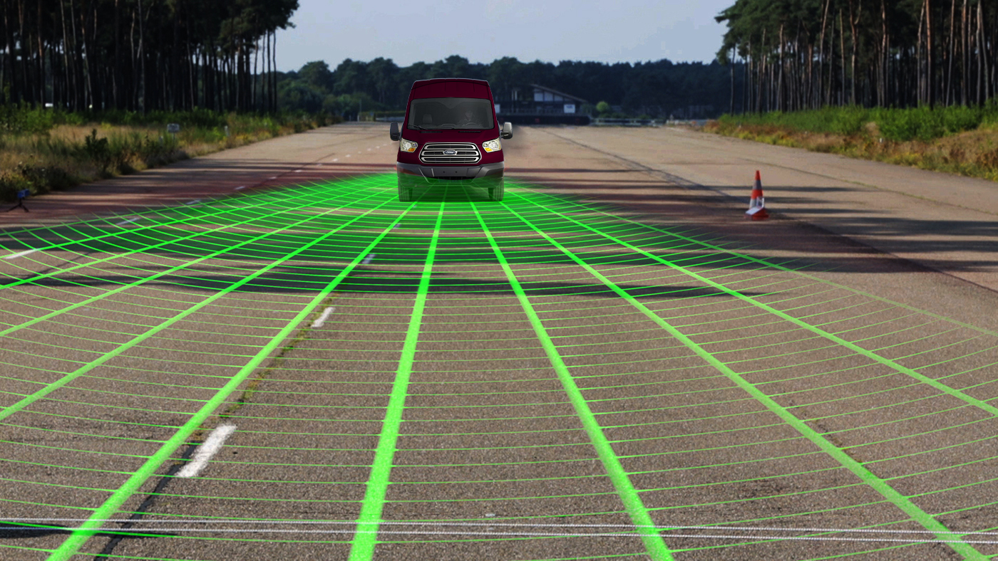 Ford Transit - Radar - Detection de piétons